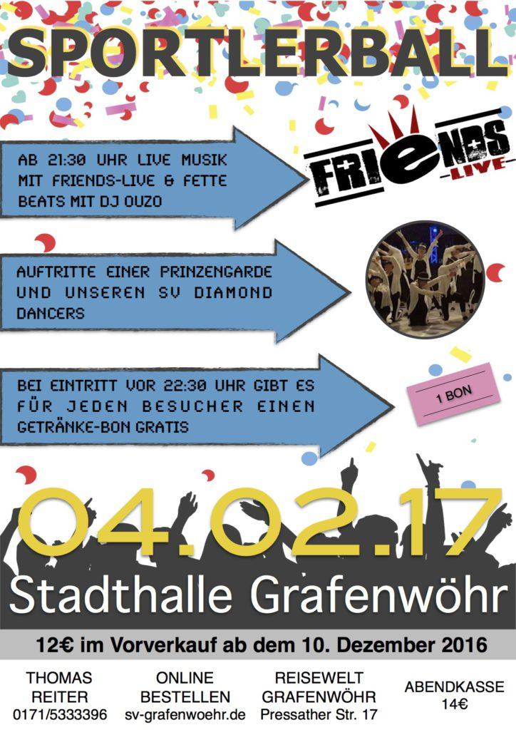 Sportlerball 2017, Stadthalle Grafenwöhr, 04.02.2017